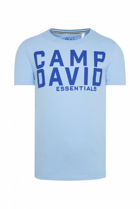 T-Shirt mit großem Logo Puff Print summer blue
