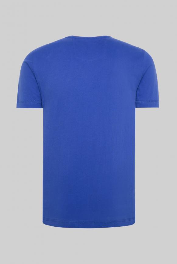 T-Shirt mit großem Logo Puff Print signal blue