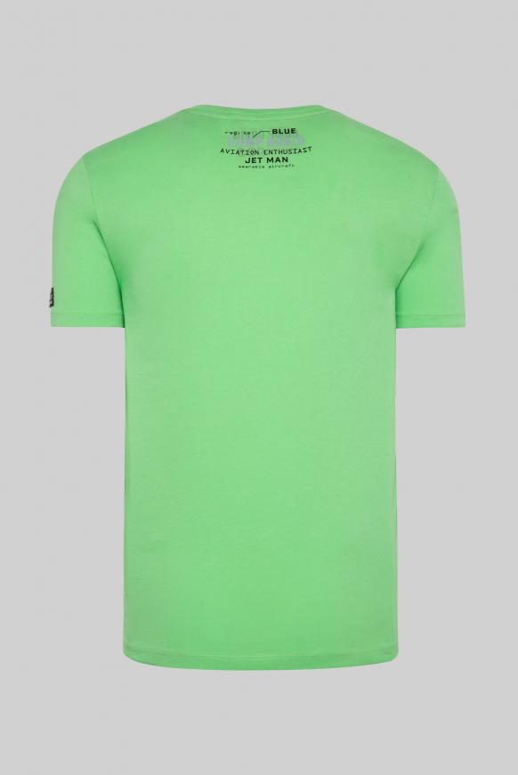 T-Shirt mit Label-Applikationen tech green