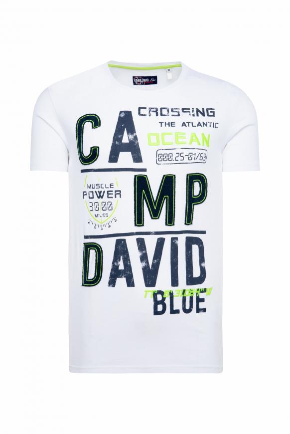 T-Shirt mit Logo-Applikationen opticwhite
