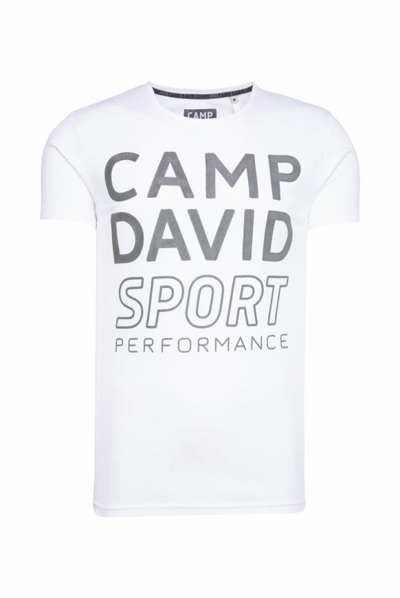 T-Shirt mit Logo Rubber Print opticwhite