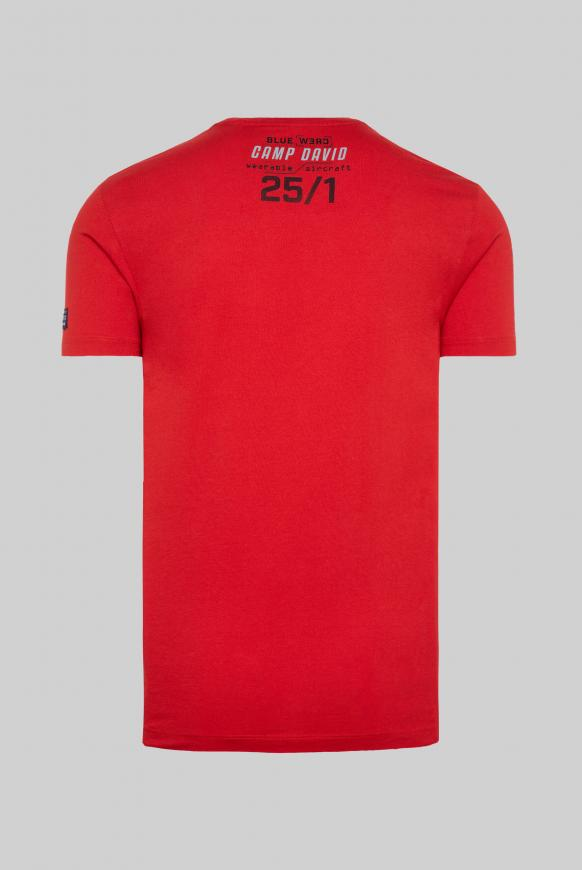 T-Shirt mit Logo Rubber Prints shark red