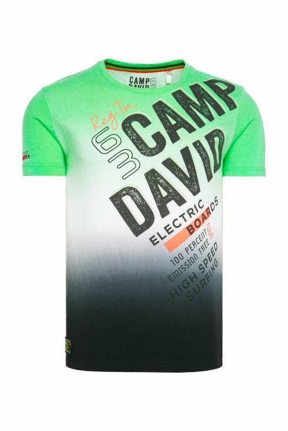 T-Shirt mit Logo und Dip-Dye-Effekt tech green