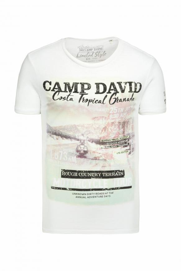 T-Shirt mit Photoprint und Ausbrennern opticwhite