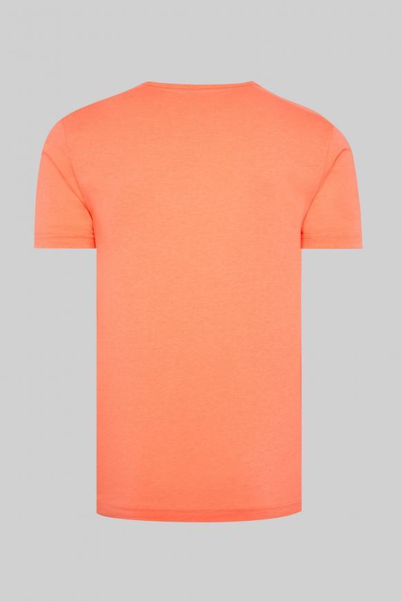 T-Shirt mit Rundhalsausschnitt und Artwork neon orange
