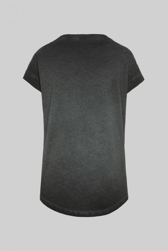 T-Shirt Oil Dyed mit Pailletten-Artwork black
