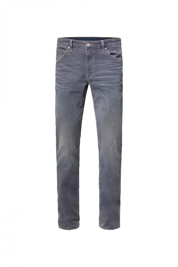 Used-Waschung 5-Pocket-Jeans NI:LS grey blue used