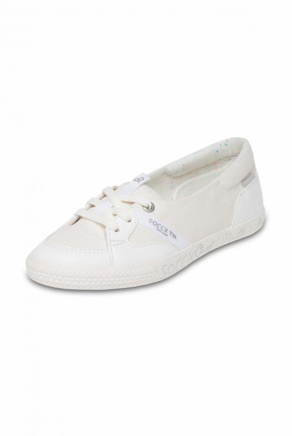 Veganer Ballerina-Sneaker white