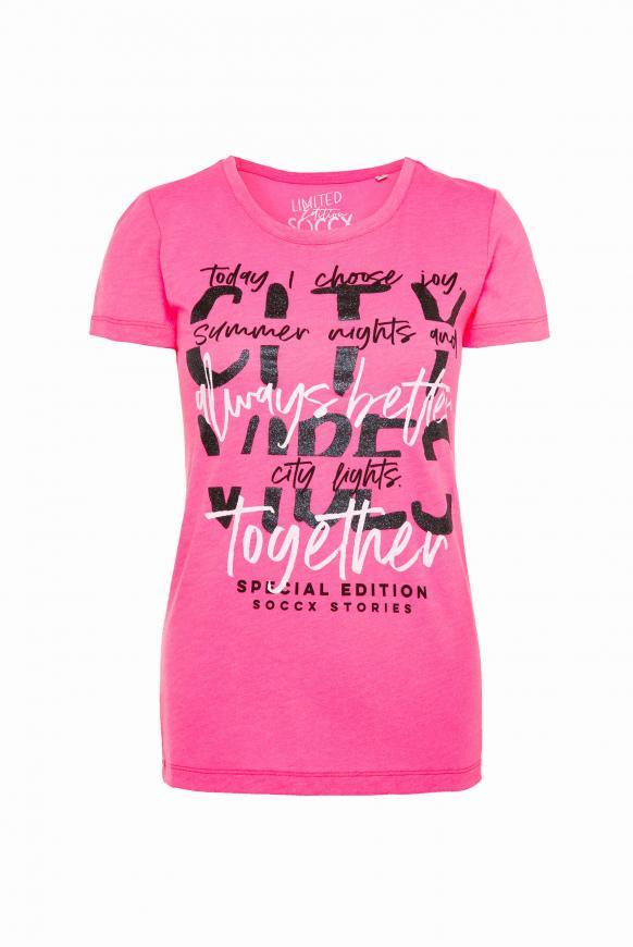 T-Shirt mit Glitter Print