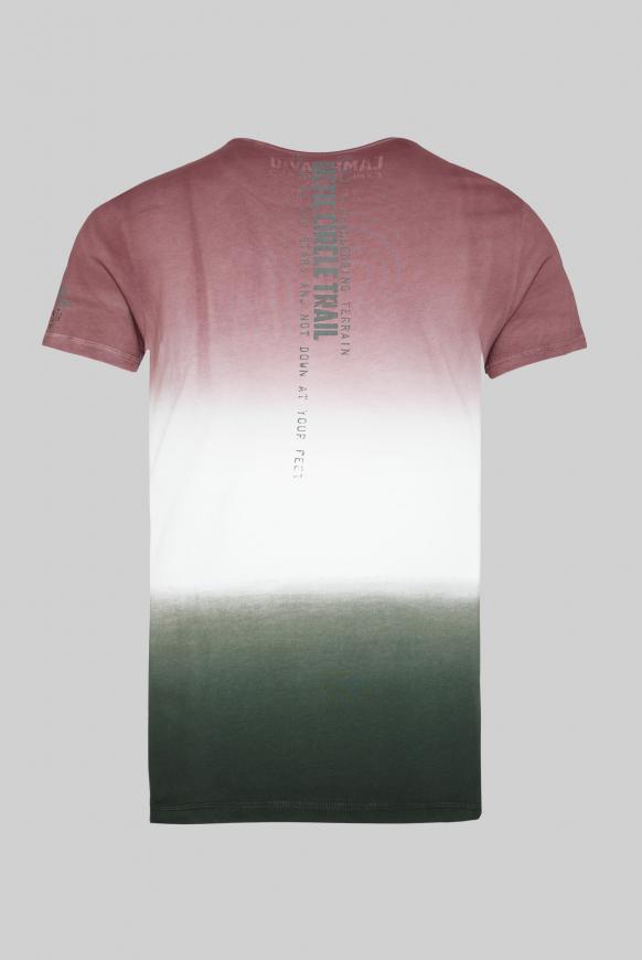 T-Shirt mit Farbverläufen und Logo Prints