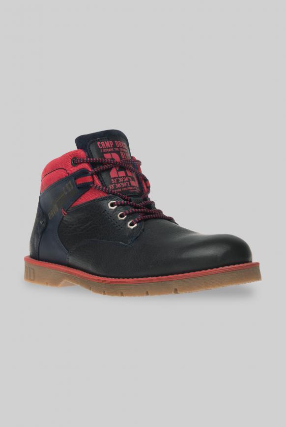 Worker Boots aus Leder mit Logo-Design