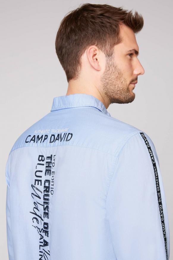 Langarmhemd mit Label-Applikationen
