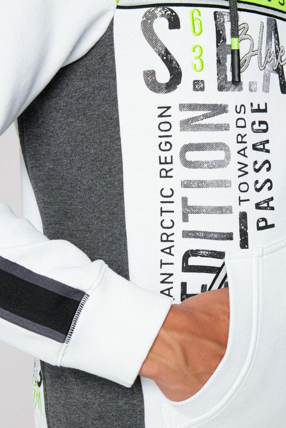 Sweatjacke mit Kapuze und Colour-Blocking